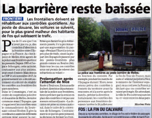La Gazette - 2016_07_20 - La barrière reste baissée