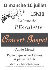 concert gospel cabane de l'Escalette 10-07-16