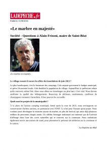 LaDépêche.fr - 2016_08_15 - «Le marbre en majesté»