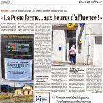 Le Petit Journal - 2016_08_10 - La poste ferme ...aux heures d'affluence