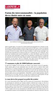 LaDépêche.fr - 2016_09_01 - Fusion des intercommunalités - la population devra choisir entre six noms